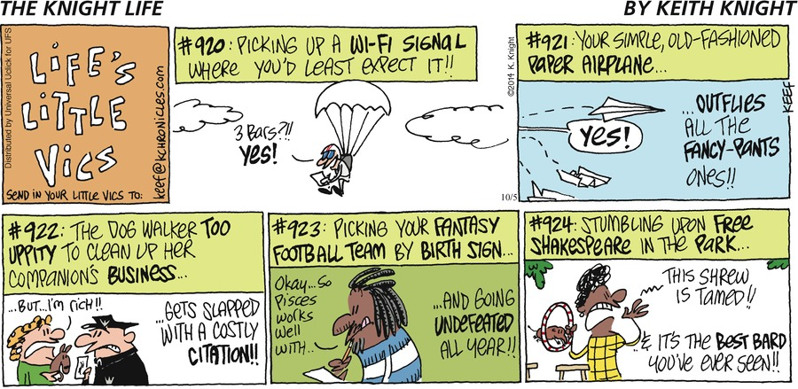 The Knight Life Comic Strip for October 05, 2014