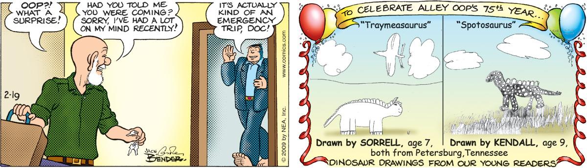 Alley Oop for Feb 19, 2009 Comic Strip