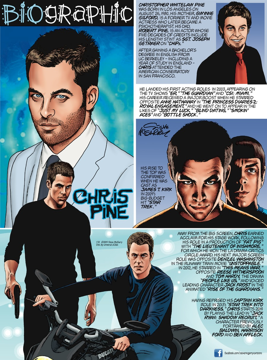Biographic Comic Strip for January 12, 2014