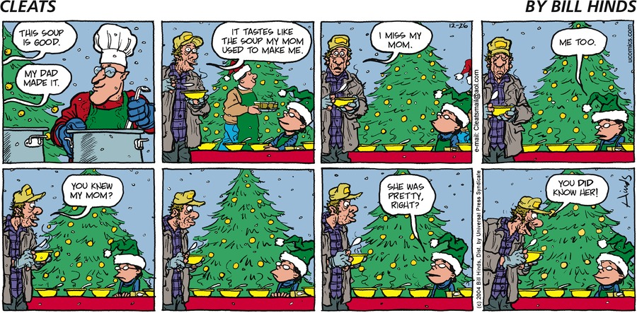 Cleats Comic Strip for December 26, 2004