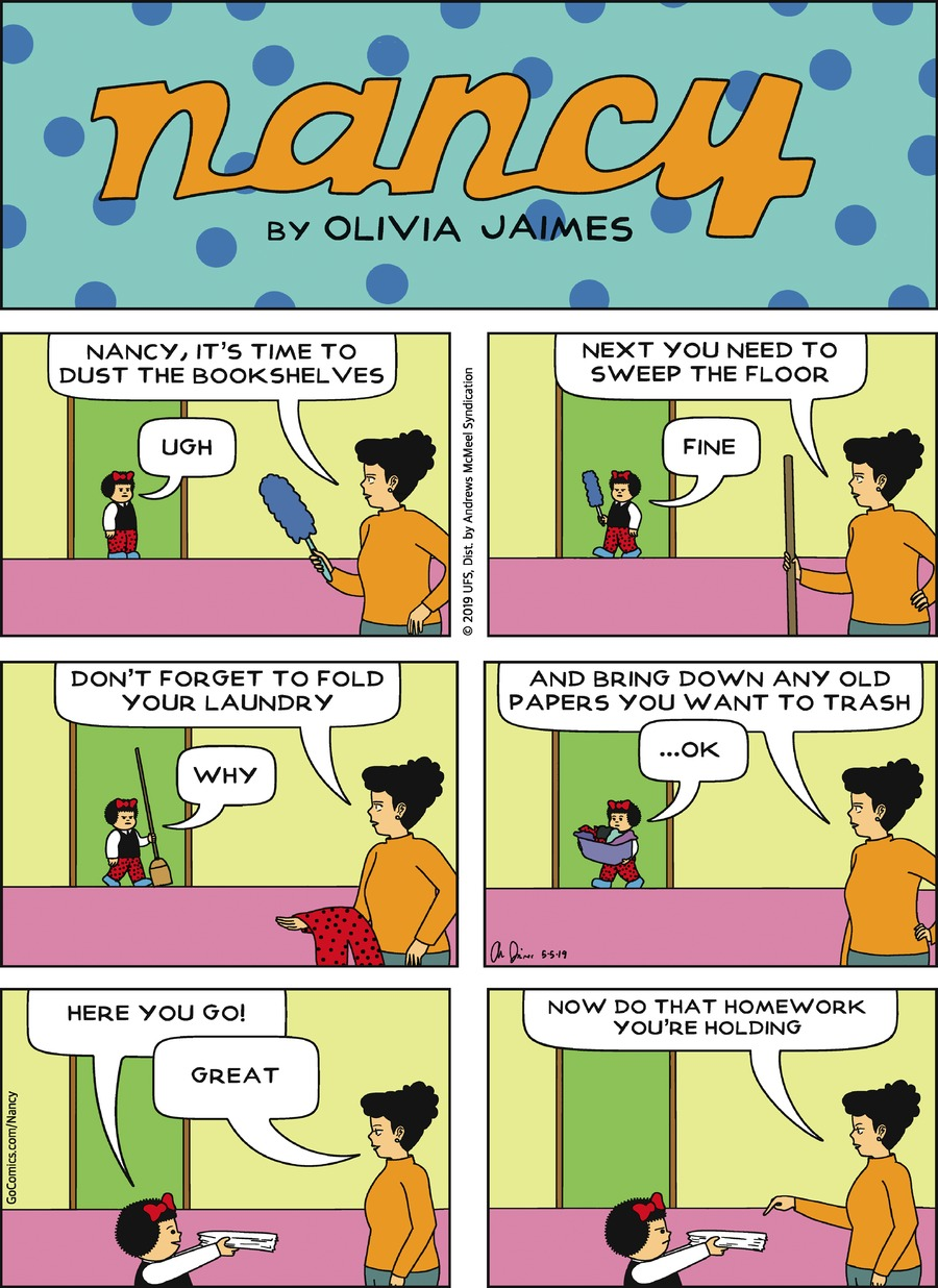 Nancy Comic Strip for May 05, 2019