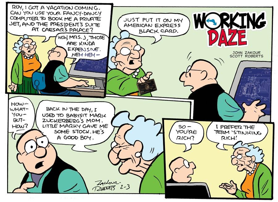 Working Daze for Feb 3, 2013 Comic Strip