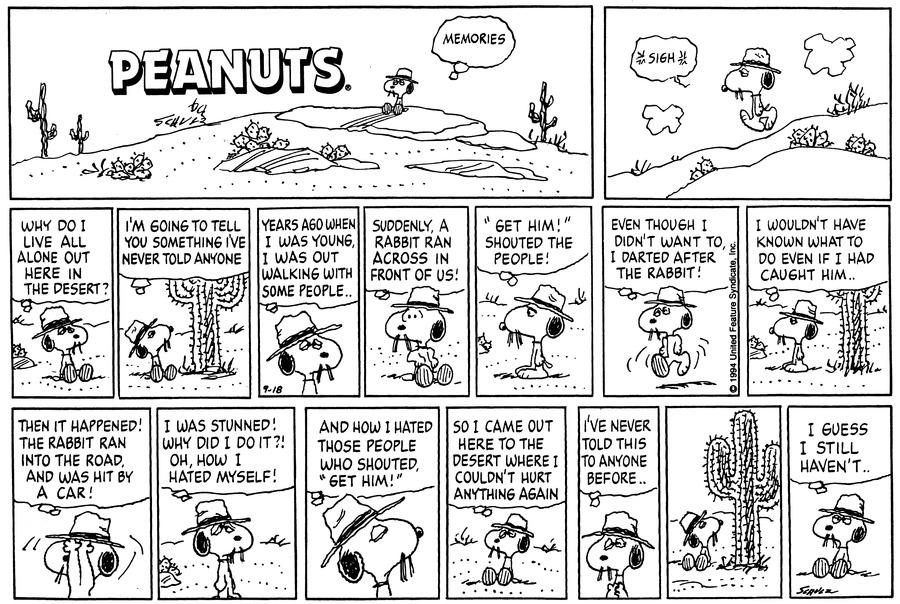 Peanuts Comic Strip for September 18, 1994