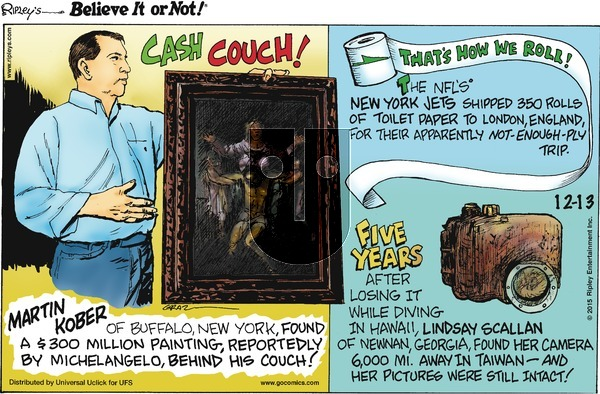 Ripley's Believe It or Not on Sunday December 13, 2015 Comic Strip