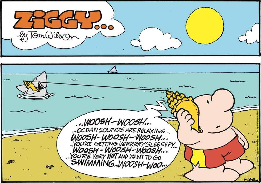 Ziggy Comic Strip for March 29, 2020