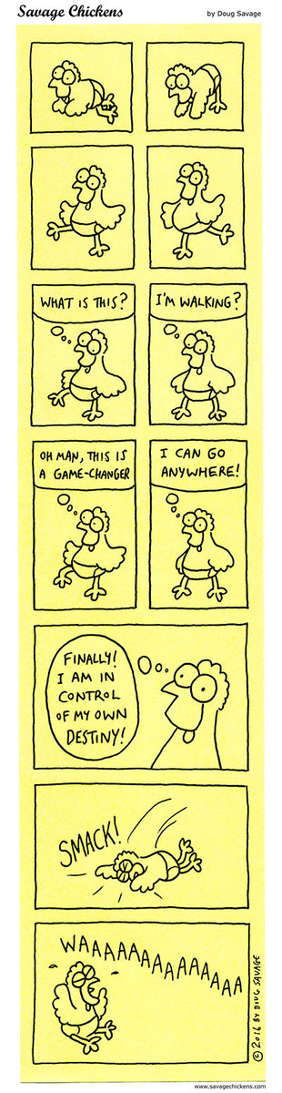 Savage Chickens Comic Strip for July 30, 2020