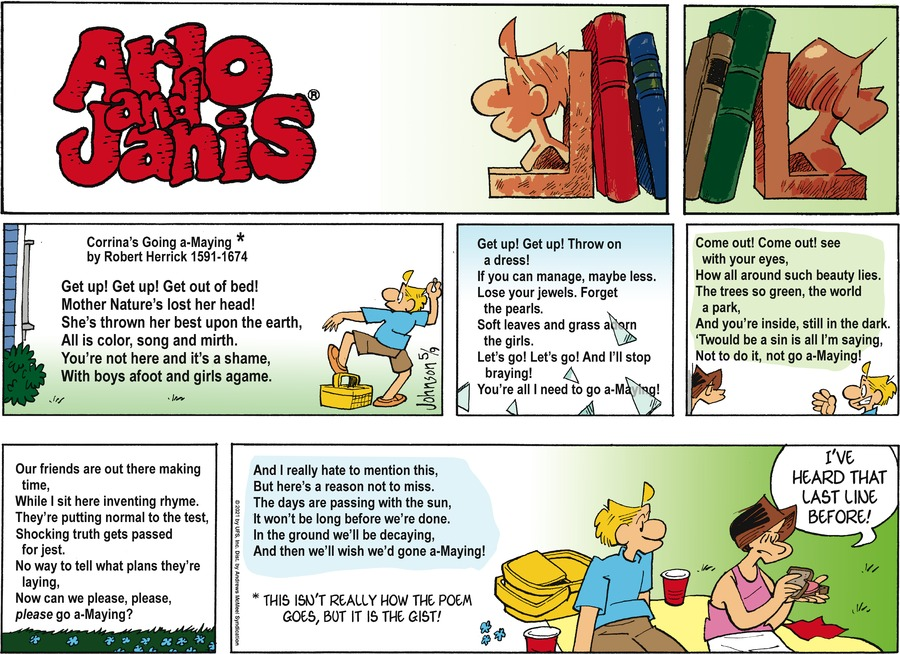 Arlo and Janis Comic Strip for May 09, 2021