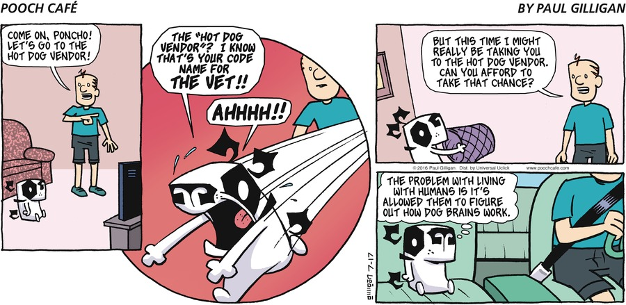 Pooch Cafe Comic Strip for July 17, 2016