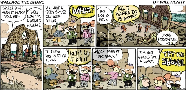 Wallace the Brave on Sunday March 7, 2021 Comic Strip