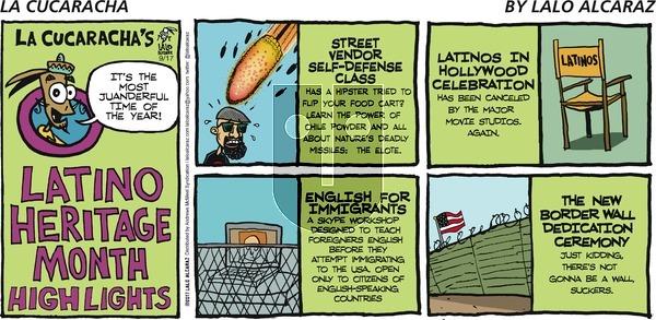 La Cucaracha on Sunday September 17, 2017 Comic Strip