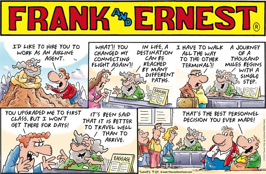 Frank and Ernest Comic Strip for September 23, 2018