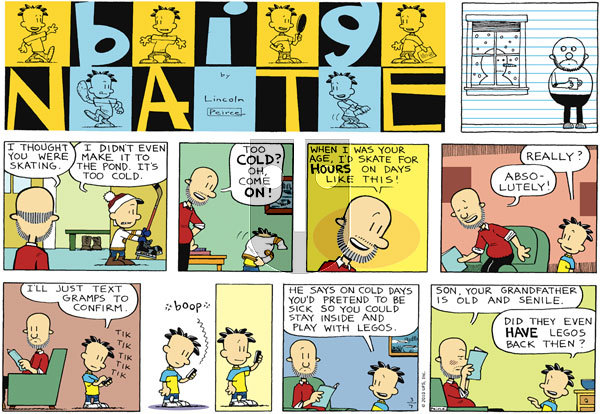 Big Nate on Sunday March 7, 2010 Comic Strip