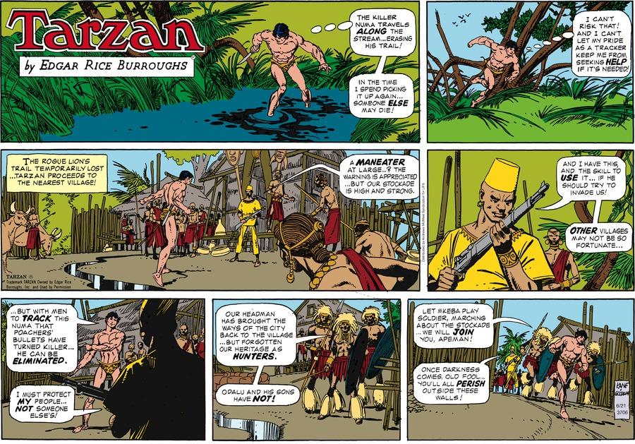 Tarzan Comic Strip for June 21, 2020