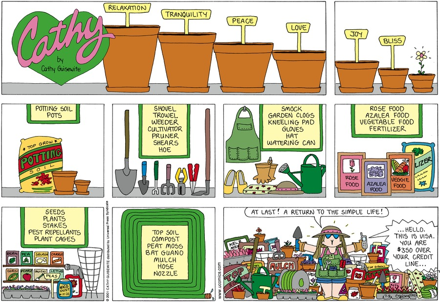 Cathy Classics Comic Strip for July 08, 2001