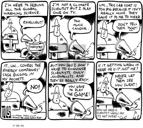 Tom Toles on Sunday November 30, 2003 Comic Strip