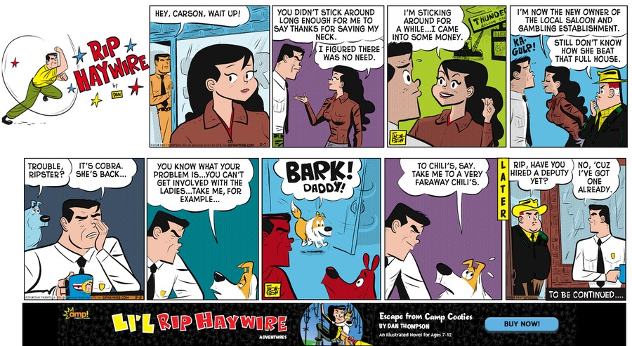 Rip Haywire Comic Strip for May 08, 2016