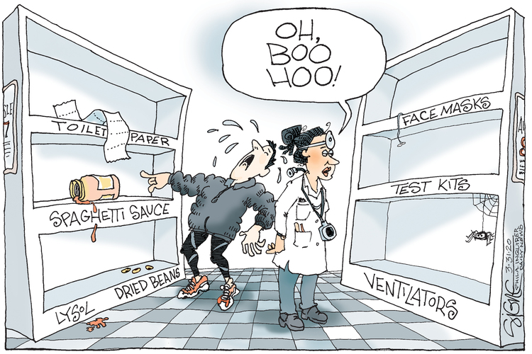 Signe Wilkinson Comic Strip for March 31, 2020