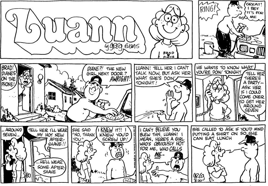 Luann Againn for Aug 20, 2017 Comic Strip