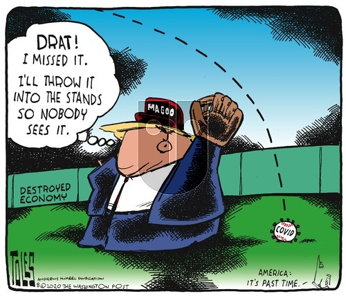 Tom Toles on Sunday August 2, 2020 Comic Strip
