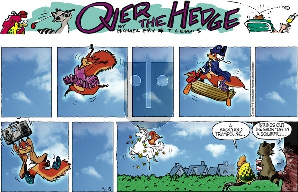Over the Hedge on Sunday September 15, 2019 Comic Strip