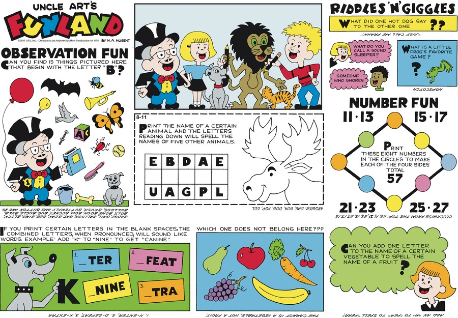 Uncle Art's Funland Comic Strip for August 11, 2019