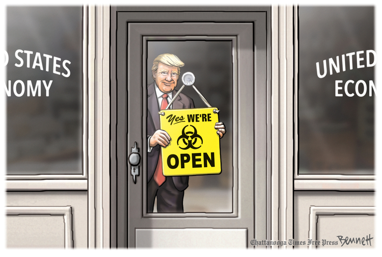 Clay Bennett Comic Strip for March 27, 2020