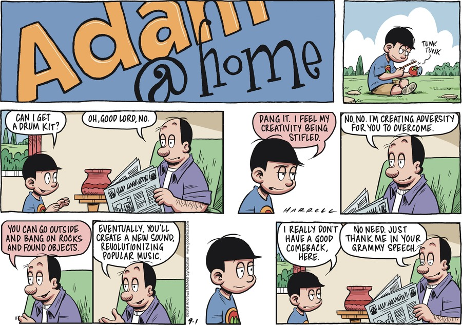 Adam@Home Comic Strip for September 01, 2019