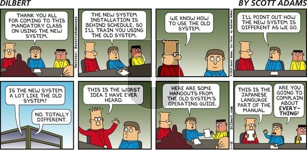 Dilbert on Sunday April 1, 2018 Comic Strip