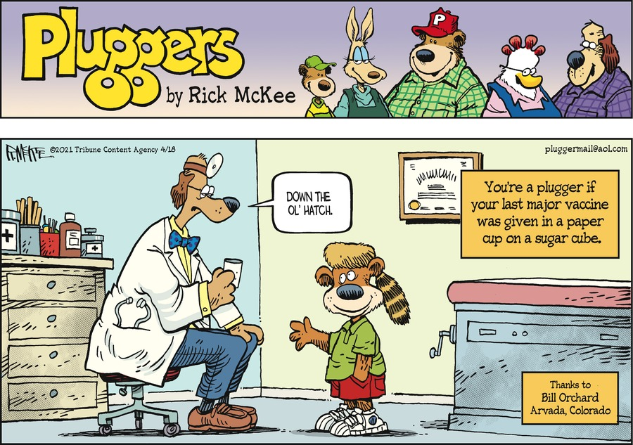 Pluggers Comic Strip for April 18, 2021