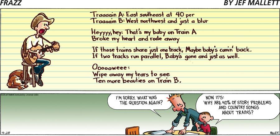 Frazz Comic Strip for September 28, 2014