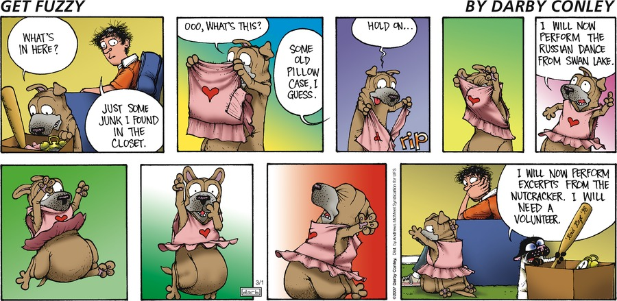 Get Fuzzy Comic Strip for March 01, 2020