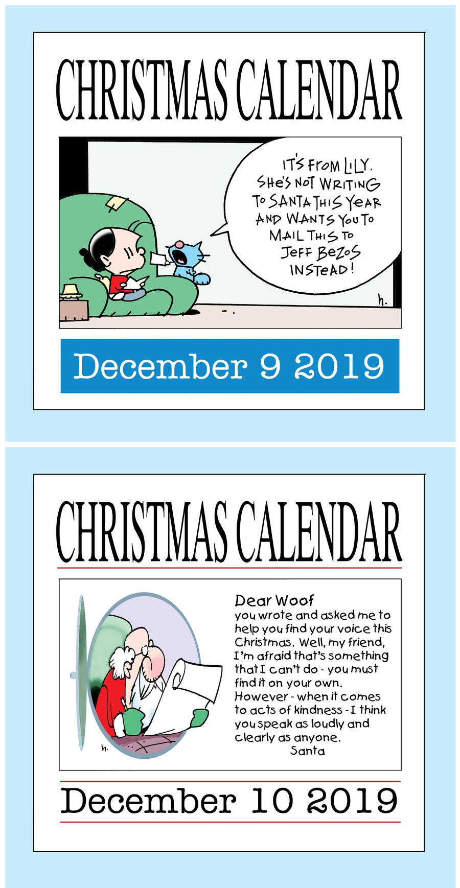 Ten Cats Comic Strip for December 10, 2019