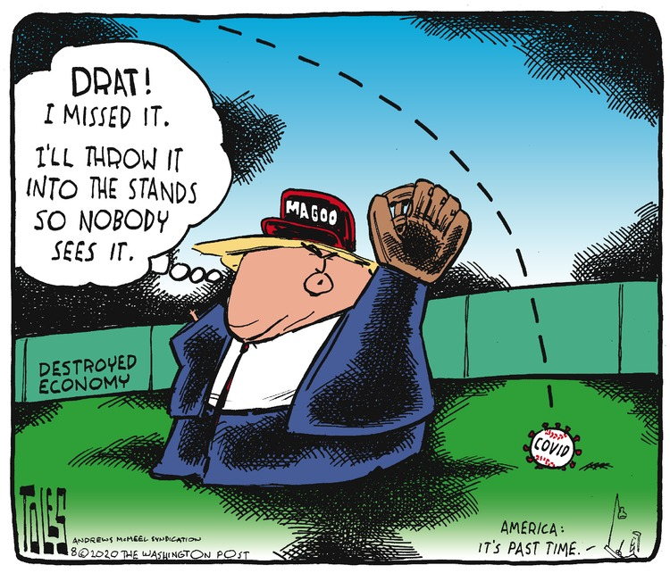 Tom Toles Comic Strip for August 02, 2020