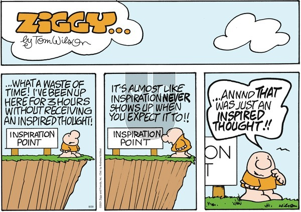 Ziggy on Sunday August 29, 2021 Comic Strip