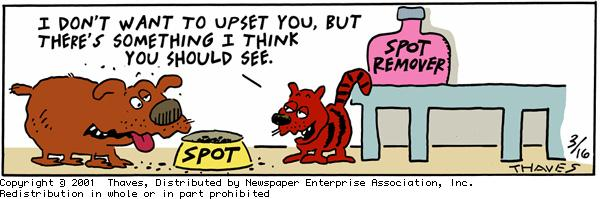 Frank and Ernest Comic Strip for March 16, 2001