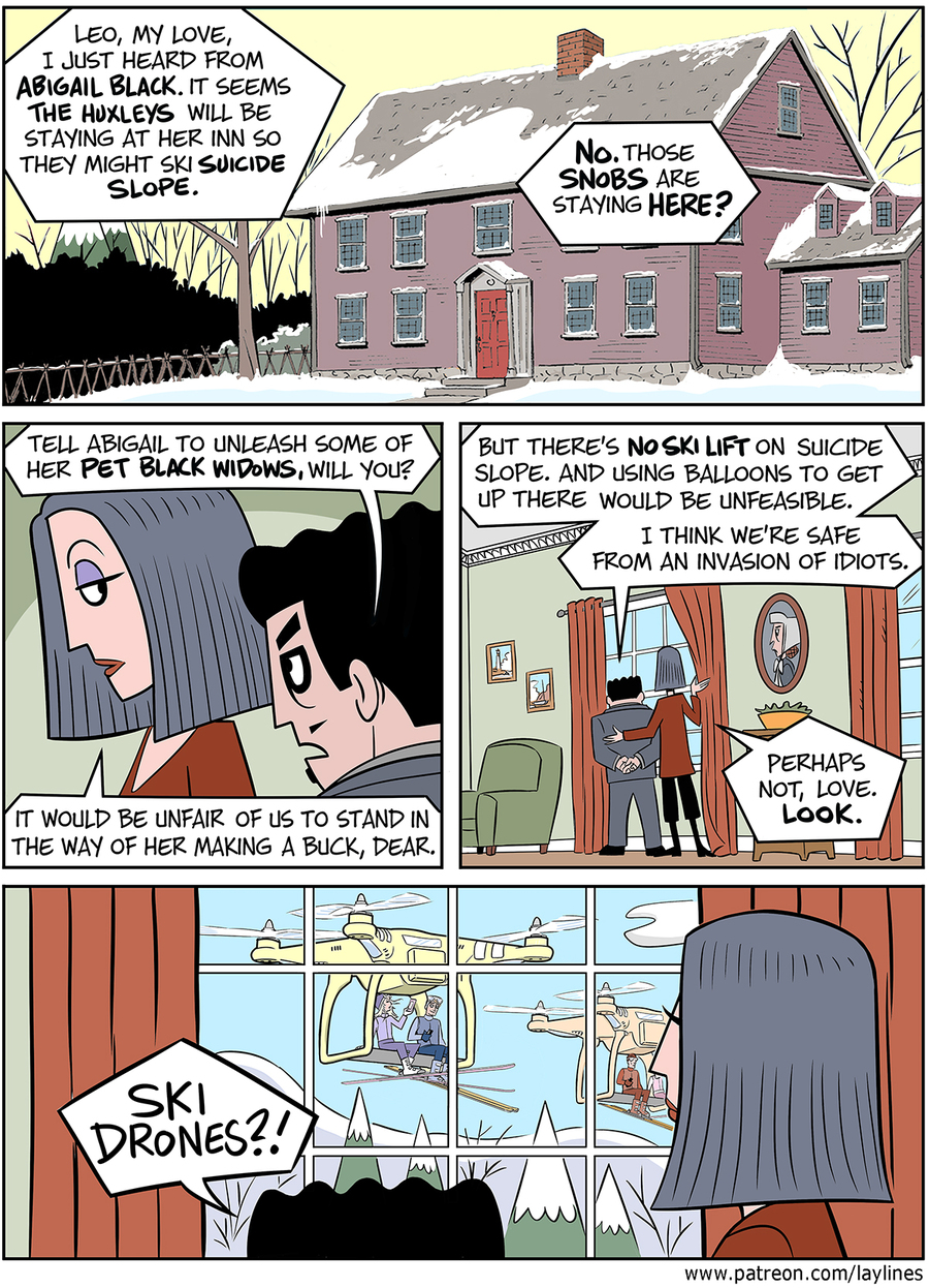 Lay Lines Comic Strip for March 01, 2016