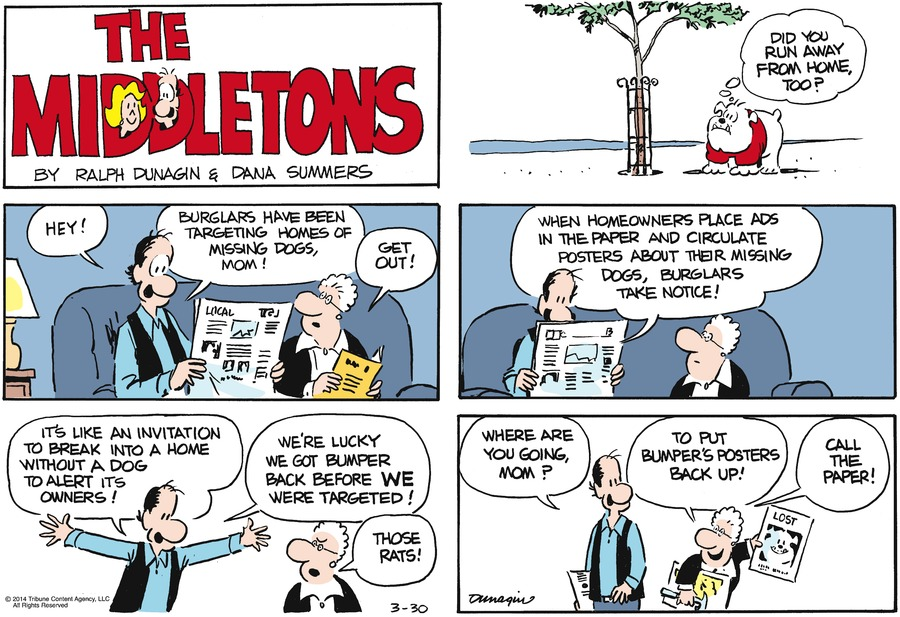 The Middletons for Mar 30, 2014 Comic Strip