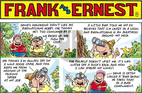 Frank and Ernest on Sunday September 30, 2018 Comic Strip