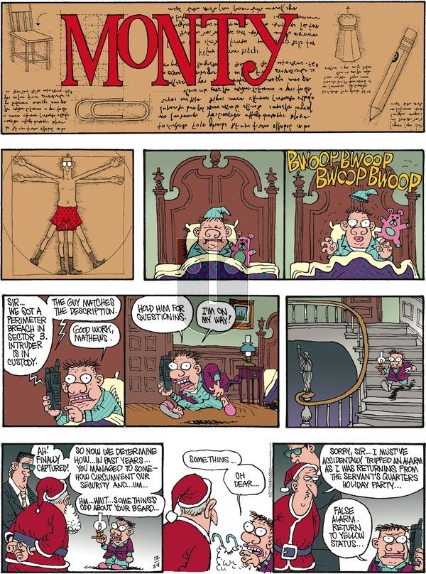 Monty on Sunday December 24, 2017 Comic Strip