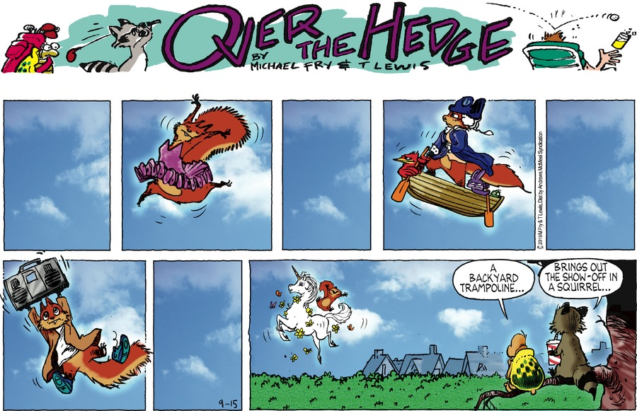 Over the Hedge Comic Strip for September 15, 2019