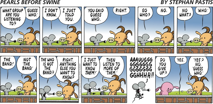 Pearls Before Swine Comic Strip for May 14, 2017
