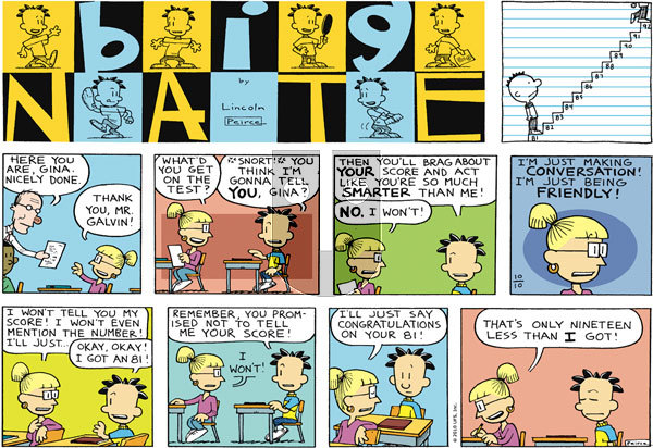 Big Nate on Sunday October 10, 2010 Comic Strip