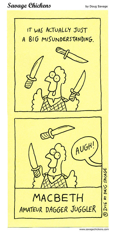Savage Chickens Comic Strip for July 21, 2020