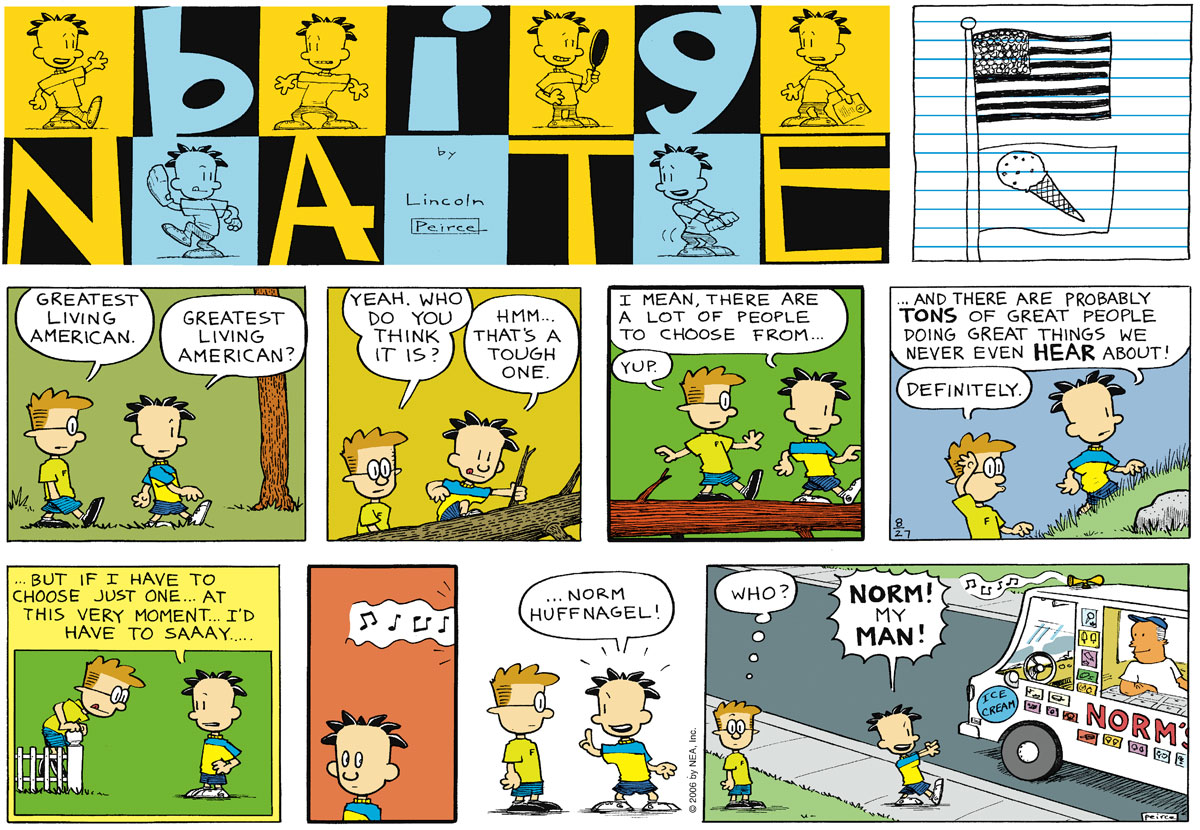 Big Nate Comic Strip for August 27, 2006