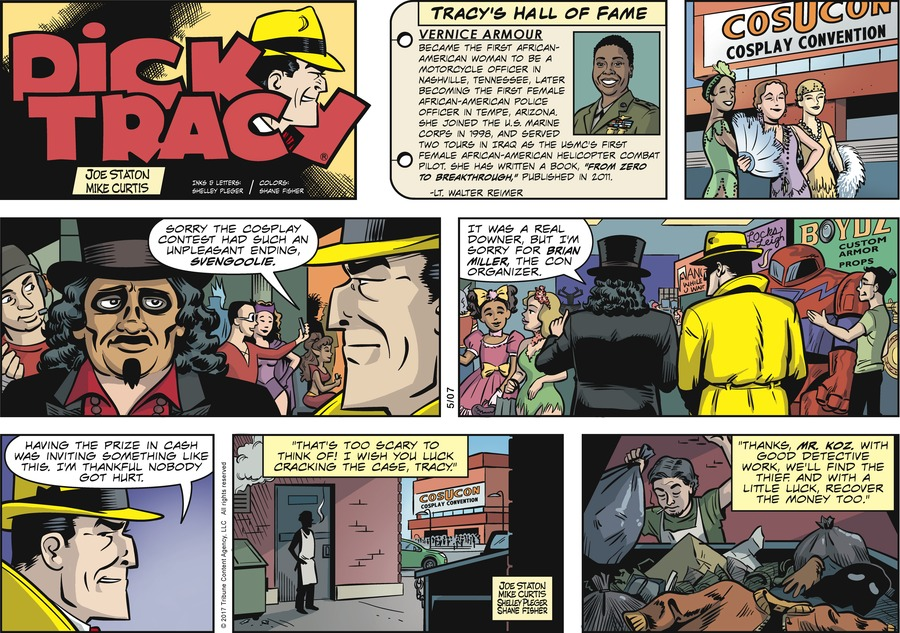 Dick Tracy Comic Strip for May 07, 2017