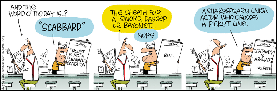 Mike du Jour Comic Strip for May 12, 2021