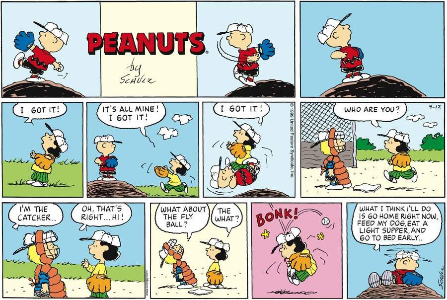 Peanuts for Sep 12, 1999 Comic Strip