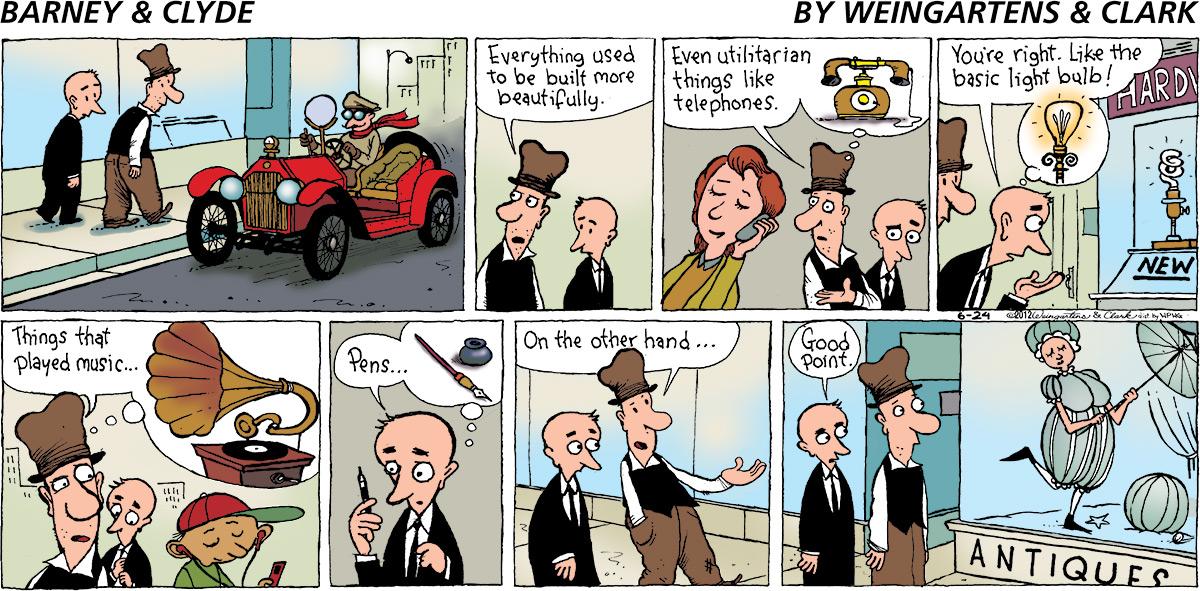 Barney & Clyde Comic Strip for June 24, 2012