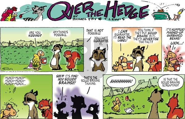 Over the Hedge on Sunday May 1, 2016 Comic Strip