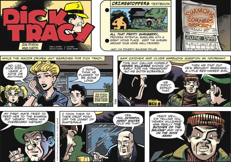 Dick Tracy Comic Strip for July 06, 2014